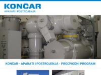Frontpage screenshot for site: KONČAR - Aparati i postrojenja d.d. (http://www.koncar-ap.hr/hr)