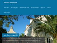 Frontpage screenshot for site: KorculaTravel.com - Korcula Island Travel Specialist (http://korculatravel.com)