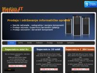 Frontpage screenshot for site: Prodaja računala, supermicro servera, te računalnih i serverskih komponenti (http://www.martiroitsistemi.hr)