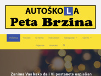 Slika naslovnice sjedišta: Autoškola Peta Brzina (http://www.autoskola-petabrzina.hr)