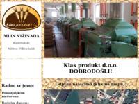 Slika naslovnice sjedišta: Mlin Vižinada – Klas Produkt (http://www.klasprodukt.hr)