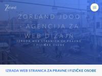 Slika naslovnice sjedišta: Agencija za web dizajn Zorland j.d.o.o. (http://www.zorland.hr)