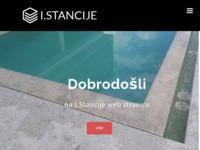 Frontpage screenshot for site: I.Stancije j.d.o.o. (http://istancije.com)