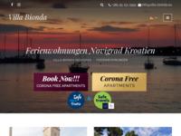 Frontpage screenshot for site: Apartmani Villa Bionda Novigrad (http://villa-bionda.eu/)