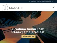 Frontpage screenshot for site: Mansio - Građevinska tvrtka (http://www.mansio.hr)
