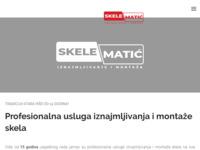 Frontpage screenshot for site: Skele Matić - Najam fasadnih, građevinskih i cijevnih skela (http://skele-matic.hr)