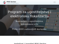 Frontpage screenshot for site: POS Sector (http://possector.hr)