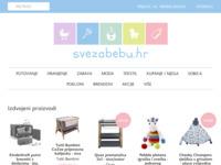 Frontpage screenshot for site: Sve za bebu - hrvatski baby webshop (http://www.svezabebu.hr)