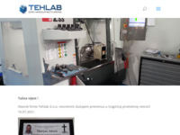 Frontpage screenshot for site: CNC obrada materijala CAD modeliranje i razvoj (http://www.tehlab.eu)