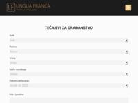Frontpage screenshot for site: Centar stranih jezika Lingua Franca (http://linguafranca.hr/)
