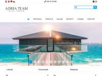 Frontpage screenshot for site: Agencija za nekretnine - Adria Team Real Estate (http://adriateam.com/hr/)