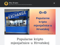 Frontpage screenshot for site: Moj Kripto (http://mojkripto.com)