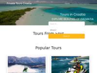 Frontpage screenshot for site: Day Tours Croatia - Digital Travel Agency in Croatia (https://tours-croatia.com/)