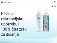 Slika naslovnice sjedišta: airbreath® KISIK – Čisti kisik za disanje u bočici. (http://www.airbreath-oxy.com)