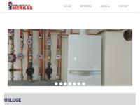 Frontpage screenshot for site: Termo instalacije Merkaš (https://www.termoinstalacije-merkas.hr)