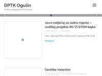 Slika naslovnice sjedišta: DPTK Ogulin – Društvo pedagoga tehničke kulture Ogulin (http://dptk-ogulin.hr)