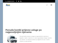 Frontpage screenshot for site: Kombi prijevoz Bendin (https://www.kombi-prijevoz.com)