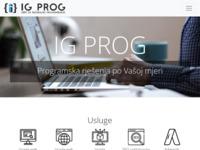 Slika naslovnice sjedišta: IG PROG | Programska rješenja | Web aplikacije (https://www.igprog.hr/)