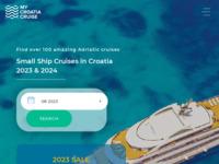 Frontpage screenshot for site: Croatia Cruise - putovanja malim brodovima po Jadranskoj obali (https://www.mycroatiacruise.com/)