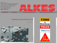 Frontpage screenshot for site: Alkes d.o.o. Labin (http://www.alkes.hr)