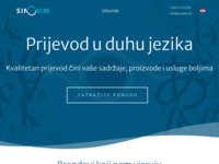 Frontpage screenshot for site: Prevoditeljska agencija – Sinonim (http://www.sinonim.hr)