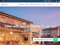 Frontpage screenshot for site: Vile sa bazenima za savršen odmor u Hrvatskoj (https://villsy.com/)