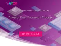 Slika naslovnice sjedišta: SEO, Digitalnii Content Marketing » WAYOO (https://www.wayoo.hr)