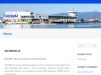 Frontpage screenshot for site: ESCOMM – Electronics systems communications Ltd. Rijeka, Croatia (http://escomm.com)