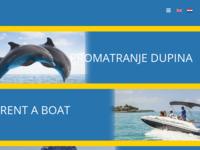Frontpage screenshot for site: Rent a Boat Mali Lošinj - Promatranje dupina - Otok Lošinj (https://losinjboats-dolphins.com/)