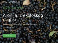 Slika naslovnice sjedišta: Idea Activa d.o.o. – Prirodni proizvodi od ekološki uzgojene aronije (https://idea-activa.hr)