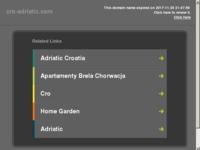 Frontpage screenshot for site: Kvalitetan izbor apartmana i soba na Jadranu sa slikama i cijenama. (http://cro-adriatic.com)