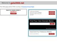 Frontpage screenshot for site: Software za graditeljstvo (http://www.gala2008.net)