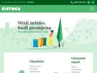 Slika naslovnice sjedišta: KD Čistoća · Rijeka - Održavanje čistoće i gospodarenje otpadom (https://cistocarijeka.hr)