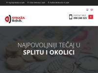 Frontpage screenshot for site: Straža d.o.o. - mjenjačnica s najpovoljnijim tečajem u Splitu i okolici (https://straza.hr)