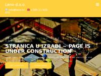 Slika naslovnice sjedišta: Leno d.o.o. – LENO d.o.o. registriran je za djelatnost Organizacija izvedbe projekata za zgrade (http://www.leno.hr)
