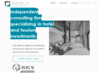 Frontpage screenshot for site: Hotelis - Valuation & Advisory (http://www.hotelis.hr/en)