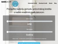 Slika naslovnice sjedišta: Kreditni kalkulator – Najbolje ponude hrvatskih banaka (http://www.bank24.hr/)