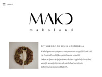 Slika naslovnice sjedišta: Makoland - A land of DIY, interior and living (https://mako.land)