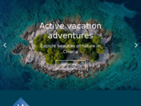 Frontpage screenshot for site: Fiore Tours - Your adventure travel partner in Croatia (http://fiore-tours.com)