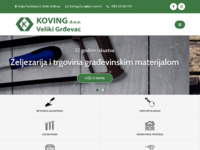 Frontpage screenshot for site: Koving d.o.o. (https://koving-zeljezarija.hr/)