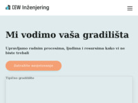 Slika naslovnice sjedišta: CEW Inženjering - Usluge upravljanja građevinskim procesima (https://www.cewinzenjering.hr)