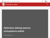 Frontpage screenshot for site: (https://www.protupozarna-zastita.com)