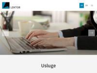Frontpage screenshot for site: Lektor - prevoditelji i sudski tumači (http://www.lektor.hr)