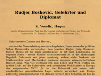 Slika naslovnice sjedišta: Ruđer Bošković (http://www.fernuni-hagen.de/MATHPHYS/veselic/rudjer/)