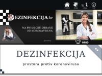 Slika naslovnice sjedišta: Dezinfekcija.hr - na prvoj liniji obrane od koronavirusa (http://dezinfekcija.hr)