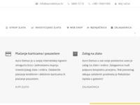 Slika naslovnice sjedišta: Auro Domus - Otkup zlata i srebra, mjenjačnica, investicijsko zlato... (https://aurodomus.hr)