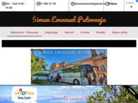 Frontpage screenshot for site: Šimun Emanuel Putovanja (http://simun-emanuel.hr)