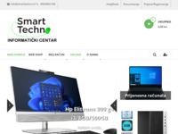 Frontpage screenshot for site: Smart Techno – Informatički centar – pametna IT rješenja! (http://www.smarttechno.hr)