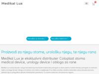 Slika naslovnice sjedišta: Proizvodi za njegu stome, urološku njegu, te njegu rana - Medikal Lux (http://medikal-lux.hr)