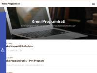 Slika naslovnice sjedišta: Kreni Programirati - Kreni programirati i zaradi za kruh kroz jednostavne lekcije! (http://stjepan-salopek.from.hr)